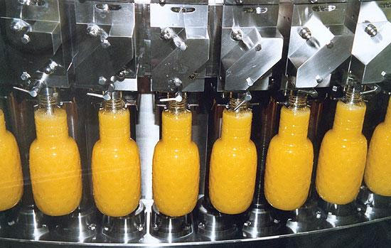 filling of fruit juice