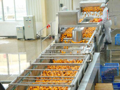 orange juice processing plant machine